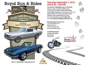 Royal Run Rides Flyer 2018