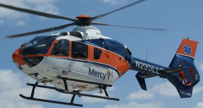 mercy life line helicopter