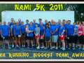 thumb NAMI 5K Biggest Team Award